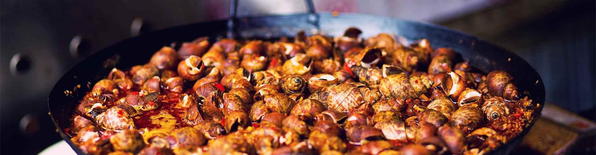 comer caracoles en restaurantes de Girona